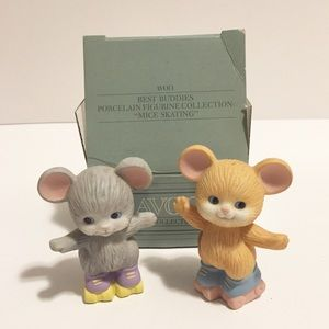 Avon, Mice Skating Figurines